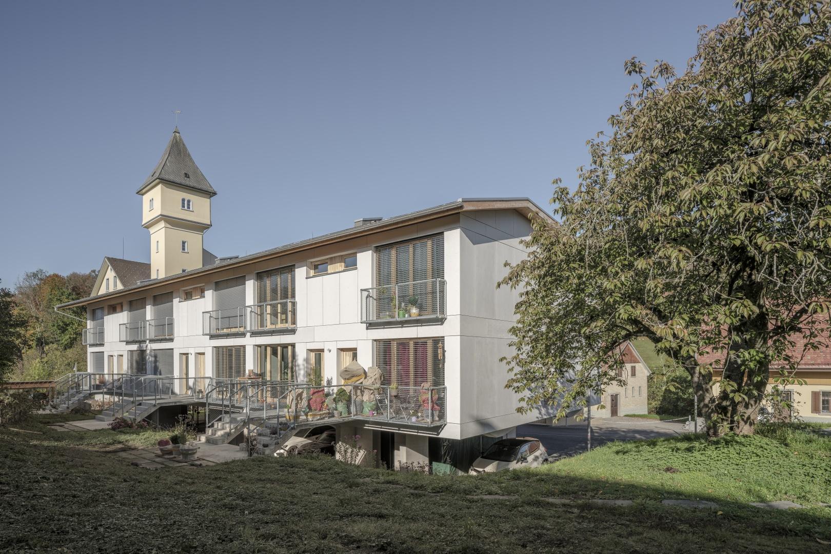 Vue jardin © moos giuliani herrmann architekten, silvano pedrett