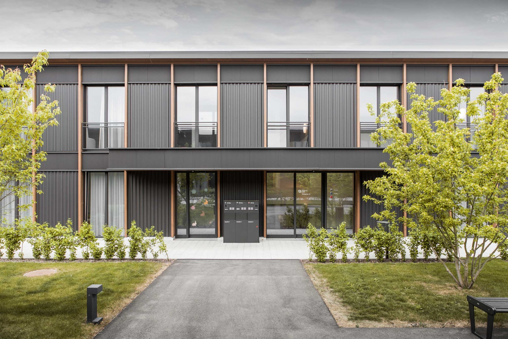 Eingang Wohnheim © Schmid Ziörjen Architektenkollektiv