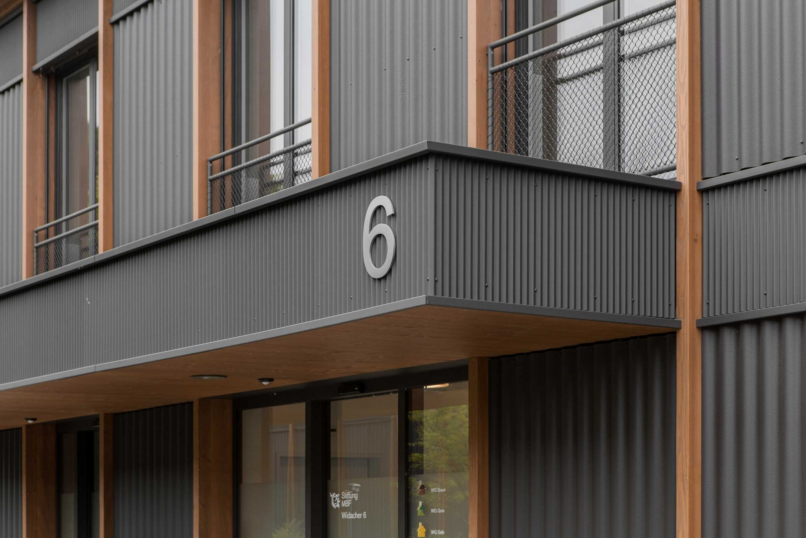 Detailaufnahme Fassade © Schmid Ziörjen Architektenkollektiv