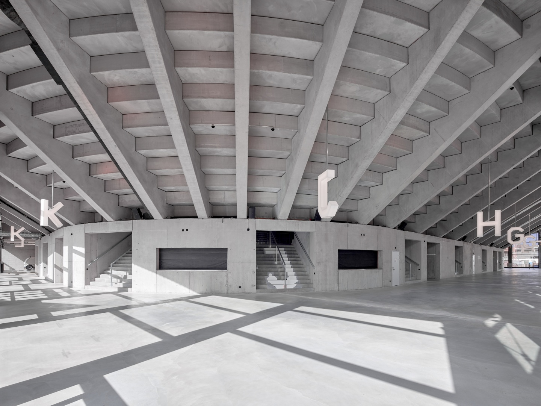 Umgang, Lonza Arena © Scheitlin Syfrig Architekten, Fotograf Ben Huggler