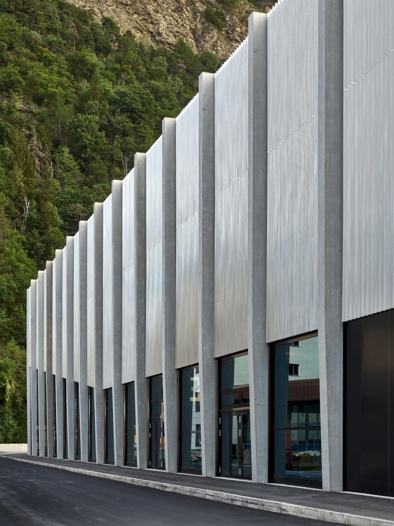 Aussenansicht, Lonza Arena © Scheitlin Syfrig Architekten, Fotograf Ben Huggler