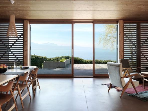 Vue intérieure - salon/salle à manger © Lionel Henriod/mc2