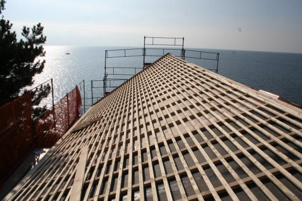 Photo chantier - toiture © Galletti & Matter architectes