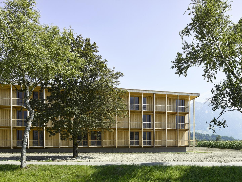 Internatstrakt Nordwestfassade © Seraina Wirz, Atelier für Architekturfotografie, Böcklinstrasse 17 8032 Zürich