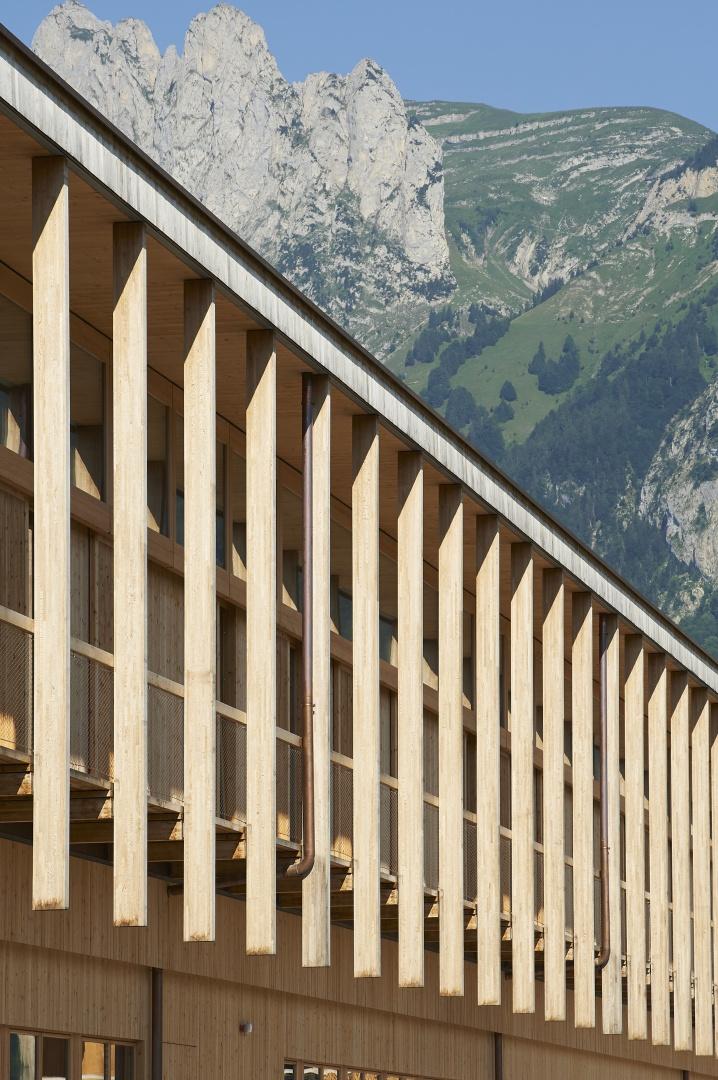 Rhythmus der Hängestützen © Seraina Wirz, Atelier für Architekturfotografie, Böcklinstrasse 17 8032 Zürich