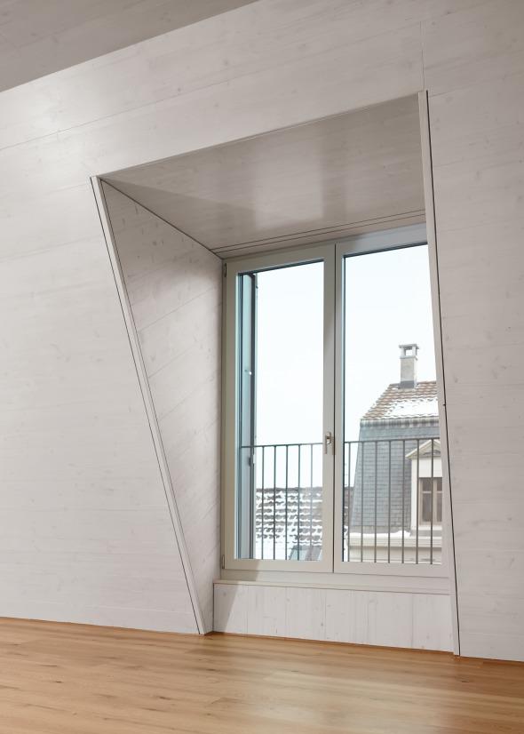 Aufstockung Detail Lukarne Loftwohnung © sim architekten gmbh