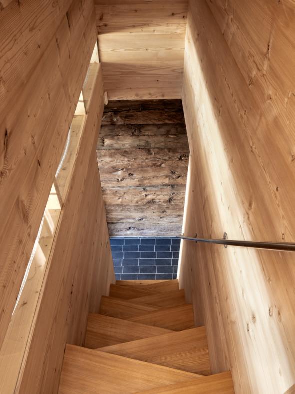 Vue intérieure - escalier © Lionel Henriod/mc2
