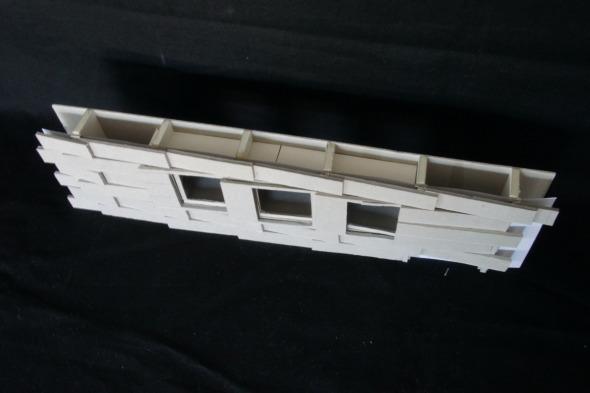 Maquette d'étude 1:50 - fenêtres © Galletti & Matter architectes