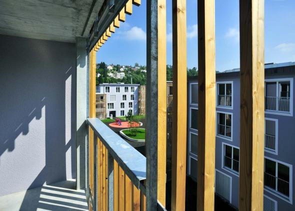 Aussicht grünes Zimmer © Büchel Neubig Architekten