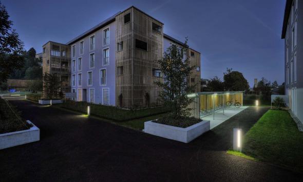 Gesamtansicht Lichtkonzept aussen © Büchel Neubig Architekten