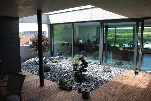terrasse intérieure étage © kaiser & wittwer sa