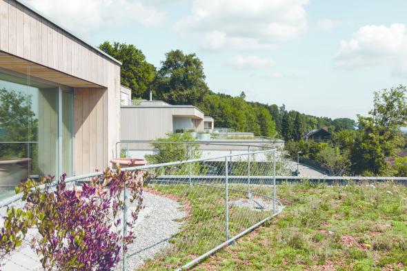vorgelagerte Terrasse der oberen Wohnungen. © C. Luperto