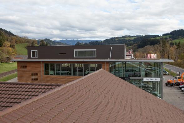 Ansicht vom Nebengebäude © flükiger architektur gmbh