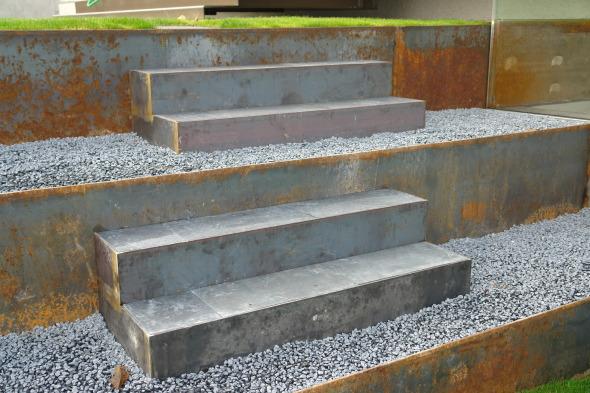 Metallgarten mit Stahltritten © Wannerpartner Architekten GmbH