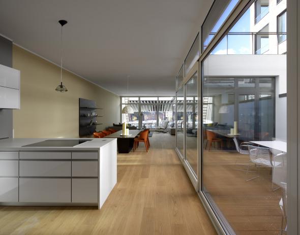 Atriumwohnung im 1. Obergeschoss © Hagen Stier