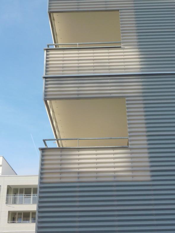 Détail façade © ARGE Egli Rohr Partner AG/ Peter Saxer Architekten GmbH