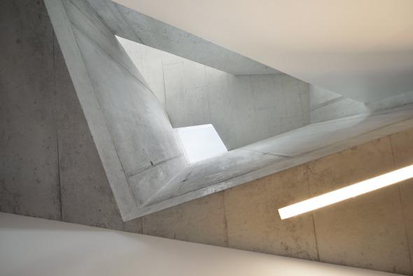 Luftraum Treppenhaus, oberer Hausteil © L3P Architekten AG