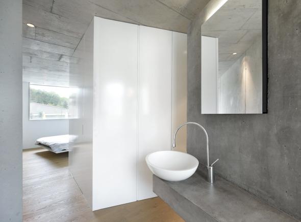 Schlafzimmer Ankleide Bad, oberer Hausteil © L3P Architekten AG