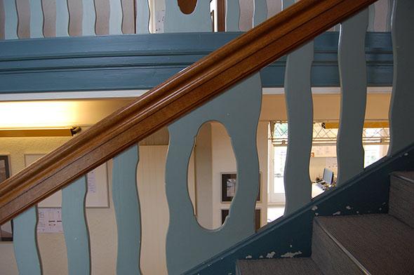 Treppe vor der Renovation. © Kaufmann Architekten AG