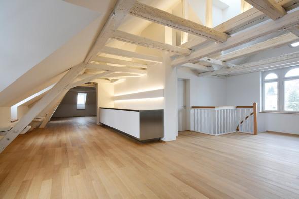 Dachgeschoss mit Teeküche. © Beat Bühler Zürich