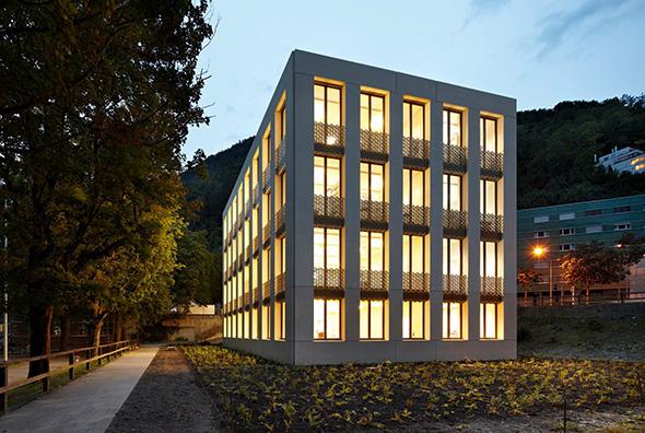 Aussenansicht / Westfassade ©  Ralf Feiner, Feiner Fotografie