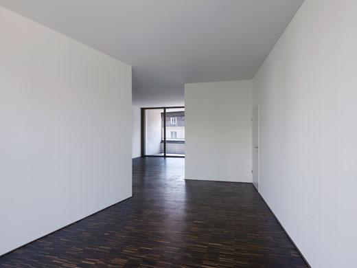 Durchgesteckter Raum im Zentrum der Wohnungen © Tonatiuh Ambrosetti