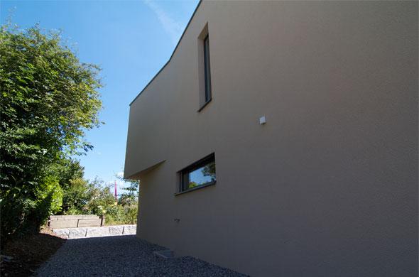 Nordfassade mit Auskragung © B & M Architekten