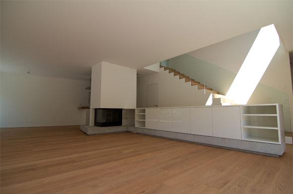 Wohnen, Cheminée-Möbel © B & M Architekten