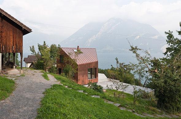 Wohnhaus triangel in bauen ur schweizer baudokumentation for Wohnhaus bauen