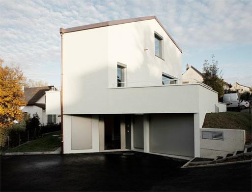 Westfassade © Dominic Schmid Architektur
