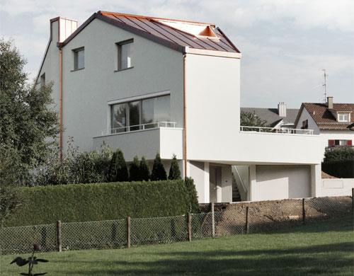 Nordwestfassade © Dominic Schmid Architektur