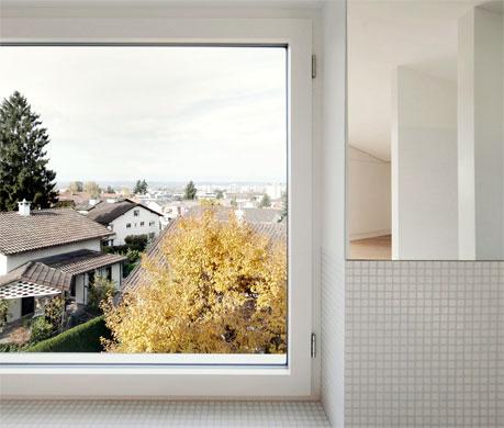 Ausblick Schlafgeschoss © Dominic Schmid Architektur