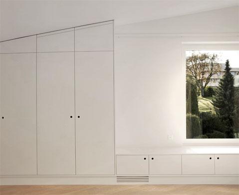 Einbauschrank Schlafzimmer © Dominic Schmid Architektur