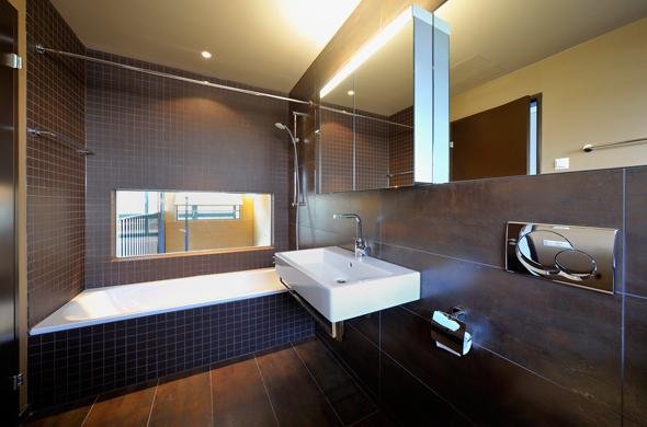 KISS Wohnungstypus Industrial - Badezimmer  © Peter Würmli