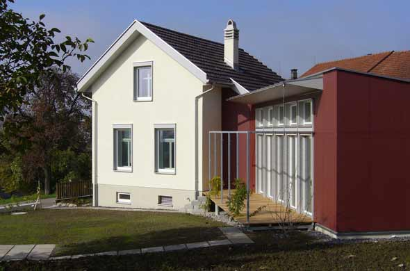 Gartenansicht Alt- / Neubau