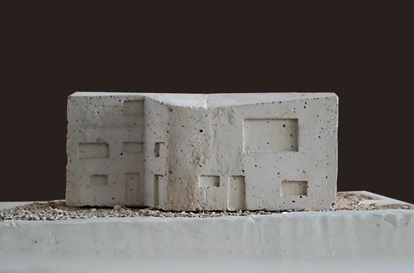 Modell aus Kalksteinbeton © Mierta & Kurt Lazzarini Architekten