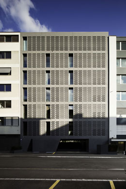 Fassade zur Alderstrasse (Foto: R. Brunecky) © Foto: R. Brunecky