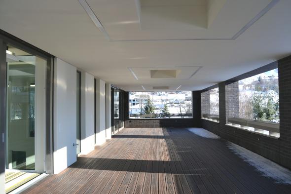 Eine Dachterrasse für die Mitarbeiter.