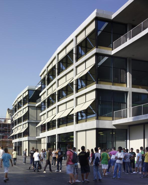 Schulhaus parkseitig © BGS & Partner Architekten