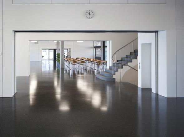 Mensa und Aufenthalt Erdgeschoss © BGS & Partner Architekten