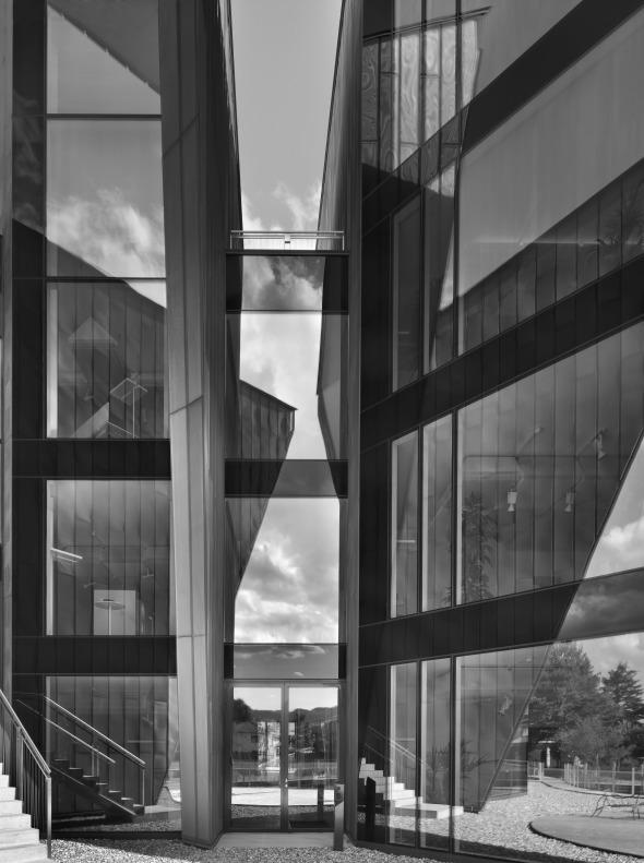 Zwischenelement der Dreieckelemente © Davide Macullo Architects