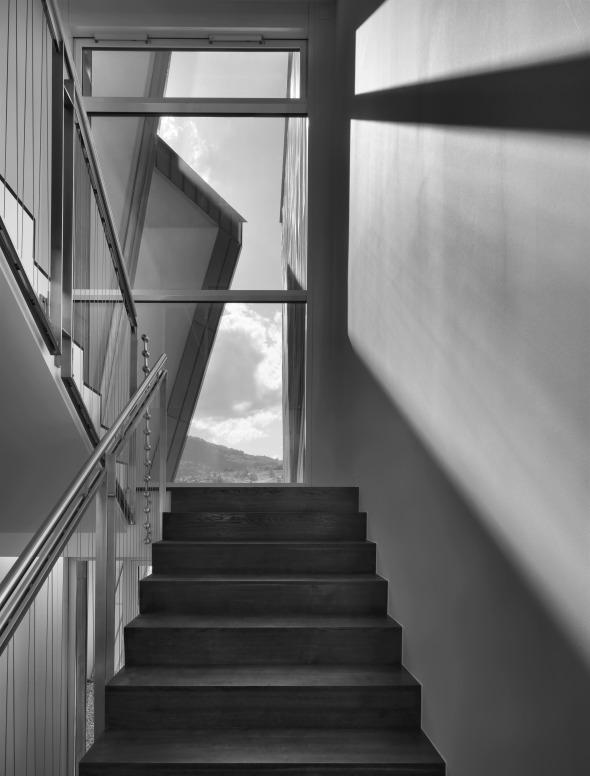 Innenansicht des Treppenhauses © Davide Macullo Architects