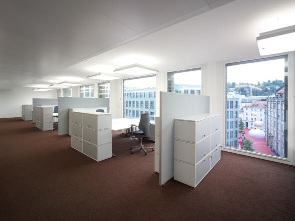 Bürogeschoss mit flexiblen Strukturen © K&L Architekten