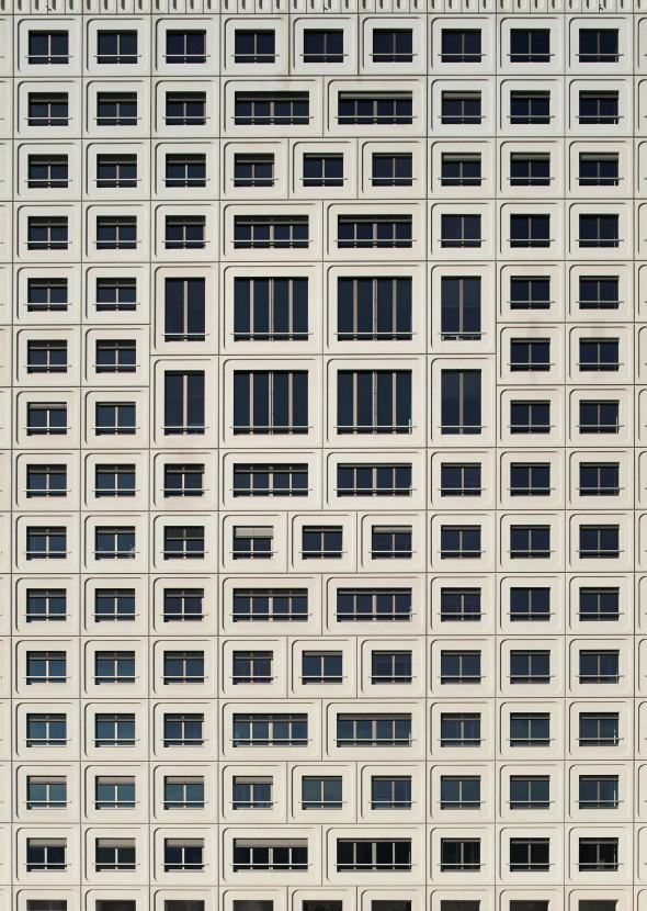 Fügungsbild der Fassadenelemente © René Dürr