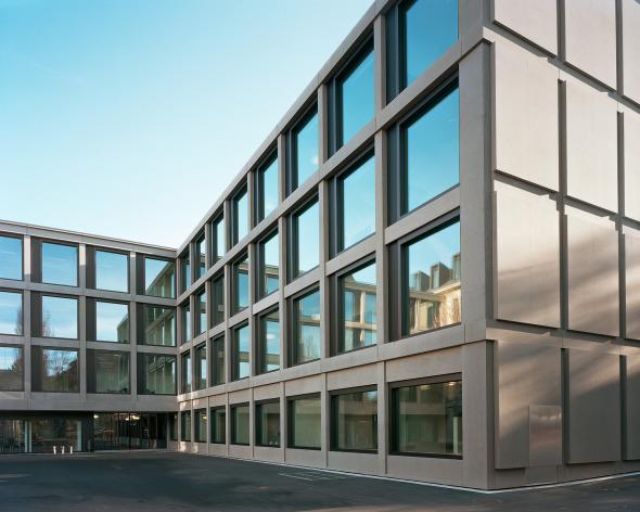 Façade bâtiment neuf © Photo: Walter Mair, Zürich