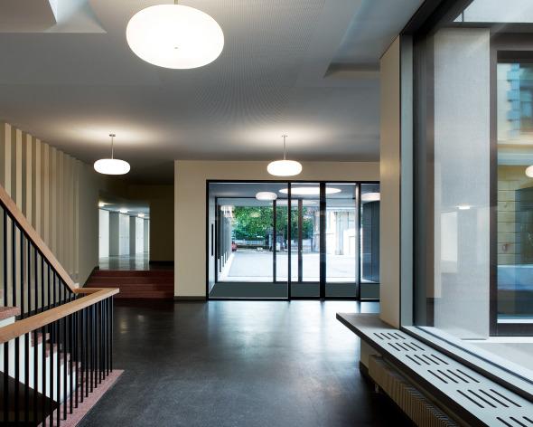 Foyer bâtiment neuf © Photo: Walter Mair, Zürich
