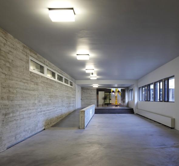 Couloir de la cantine à la bibliothèque © rlc AG