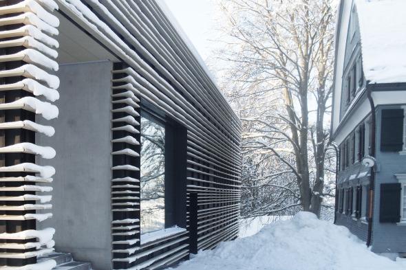 Ton-Baguette und Schnee © Kimlim Architekten