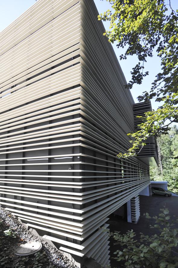 Baguette-Streifen, bewusst in unterschiedlichen Abständen © Kimlim Architekten