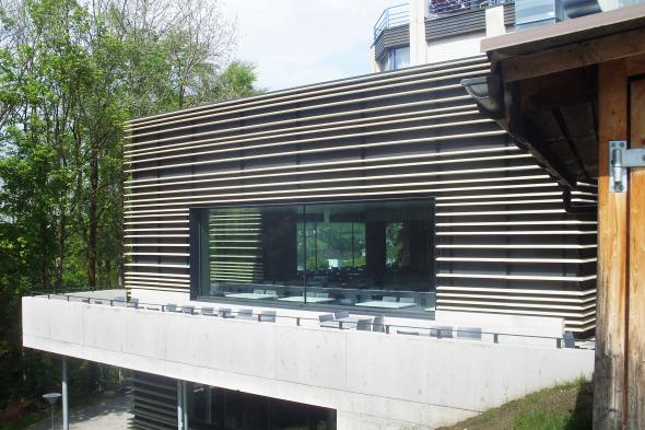 Blick auf die Terrasse © Kimlim Architekten